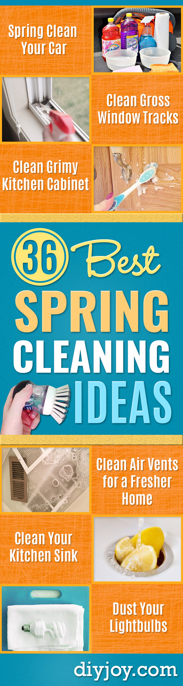 Best Spring Cleaning Ideas - Easy Cleaning Tips For Home - DIY Cleaning Hacks and Product Recipes - Tips and Tricks for Cleaning the Bathroom, Kitchen, Floors and Countertops