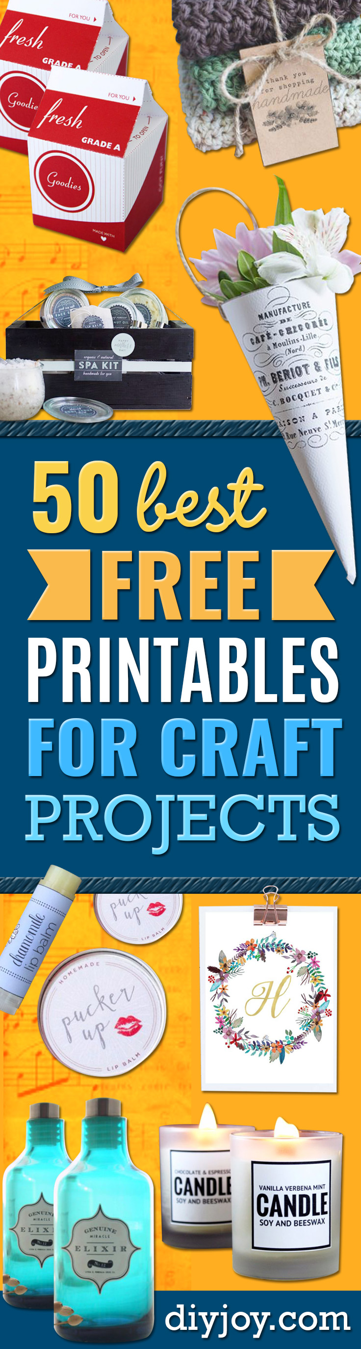 Best Free Printables for Crafts - Quotes, Templates, Paper Projects and Cards, DIY Gifts Cards, Stickers and Wall Art You Can Print At Home - Use These Fun Do It Yourself Template and Craft Ideas for Your Next Craft Projects - Cute Arts and Crafts Ideas for Kids and Adults to Make on Printer / Printable http://diyjoy.com/best-free-printables-crafts