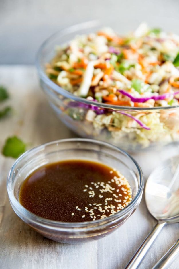 Salad Dressing Recipes - Asian Salad Dressing - Healthy, Low Calorie and Easy Recipes for Creamy Homeade Dressings - How To Make Vinaigrette, Mango, Greek, Paleo, Balsamic, Ranch, and Italian Copycat Dressings