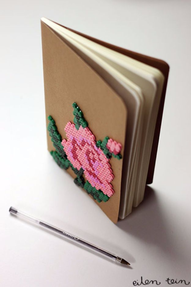 DIY Ideas With Beads - Beaded Notebook - Cool Crafts and Do It Yourself Ideas Made With Beads - Outdoor Windchimes, Indoor Wall Art, Cute and Easy DIY Gifts - Fun Projects for Kids, Adults and Teens - Bead Project Tutorials With Step by Step Instructions - Best Crafts To Make and Sell on Etsy