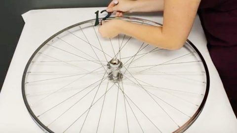 She Takes A Bike Rim And Makes The Most Unique Item For Her Home! | DIY Joy Projects and Crafts Ideas