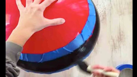 The Awesome Thing She Does With Giant Bouncy Balls Blew My Mind…It's Quite Clever! | DIY Joy Projects and Crafts Ideas