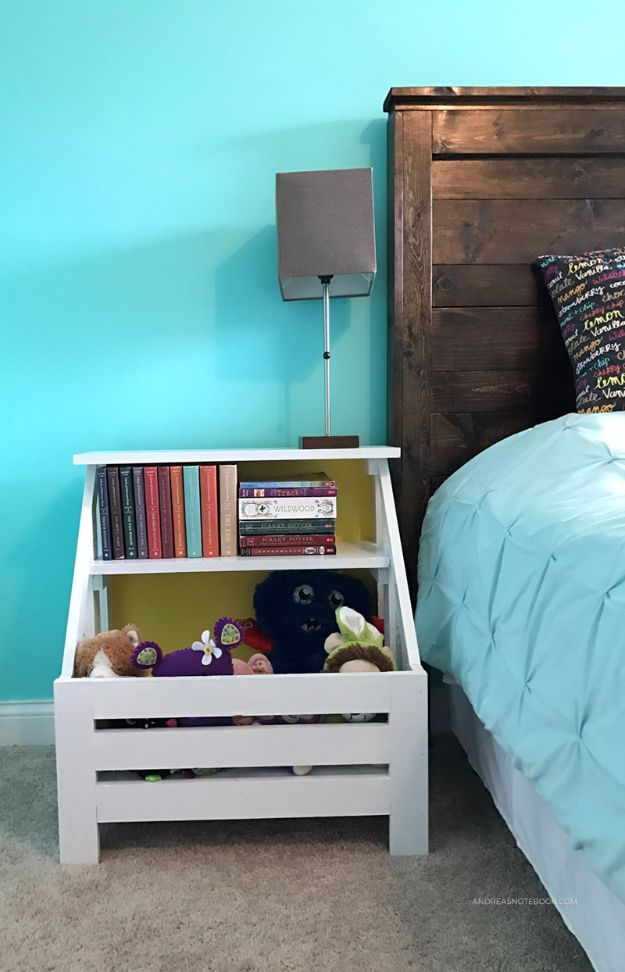 DIY Nightstands for the Bedroom - Build A Bookshelf Nightstand - Easy Do It Yourself Bedside Tables and Furniture Project Ideas - Thrift Store Makeovers For Your Room and Bed Side Night Stand - Storage for Books and Remotes, Cute Shabby Chic and Vintage Decor - Step by Step Tutorials and Instructions http://diyjoy.com/diy-nightstands-bedroom