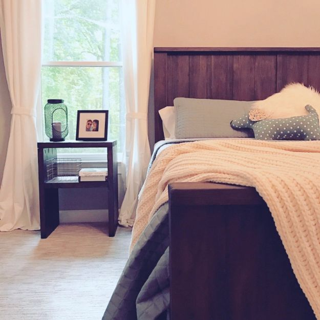 DIY Nightstands for the Bedroom - Build a Nightstand Out of 2x4s - Easy Do It Yourself Bedside Tables and Furniture Project Ideas - Thrift Store Makeovers For Your Room and Bed Side Night Stand - Storage for Books and Remotes, Cute Shabby Chic and Vintage Decor - Step by Step Tutorials and Instructions http://diyjoy.com/diy-nightstands-bedroom