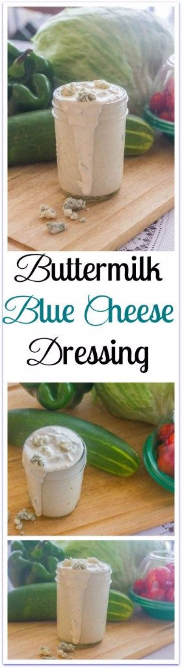 Salad Dressing Recipes - Buttermilk Blue Cheese Dressing - Healthy, Low Calorie and Easy Recipes for Creamy Homeade Dressings - How To Make Vinaigrette, Mango, Greek, Paleo, Balsamic, Ranch, and Italian Copycat Dressings http://diyjoy.com/best-salad-dressing-recipes