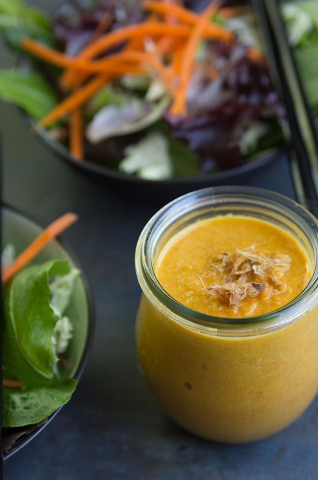 Salad Dressing Recipes - Carrot And Ginger Japanese Salad Dressing - Healthy, Low Calorie and Easy Recipes for Creamy Homeade Dressings - How To Make Vinaigrette, Mango, Greek, Paleo, Balsamic, Ranch, and Italian Copycat Dressings
