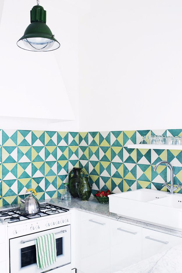 DIY Tile Ideas - Cement Tile - Creative Crafts for Bathroom, Kitchen, Living Room, and Fireplace - Awesome Shower and Bathtub Ideas - Fun and Easy Home Decor Projects - How To Make Rustic Entryway Art http://diyjoy.com/diy-tile-ideas