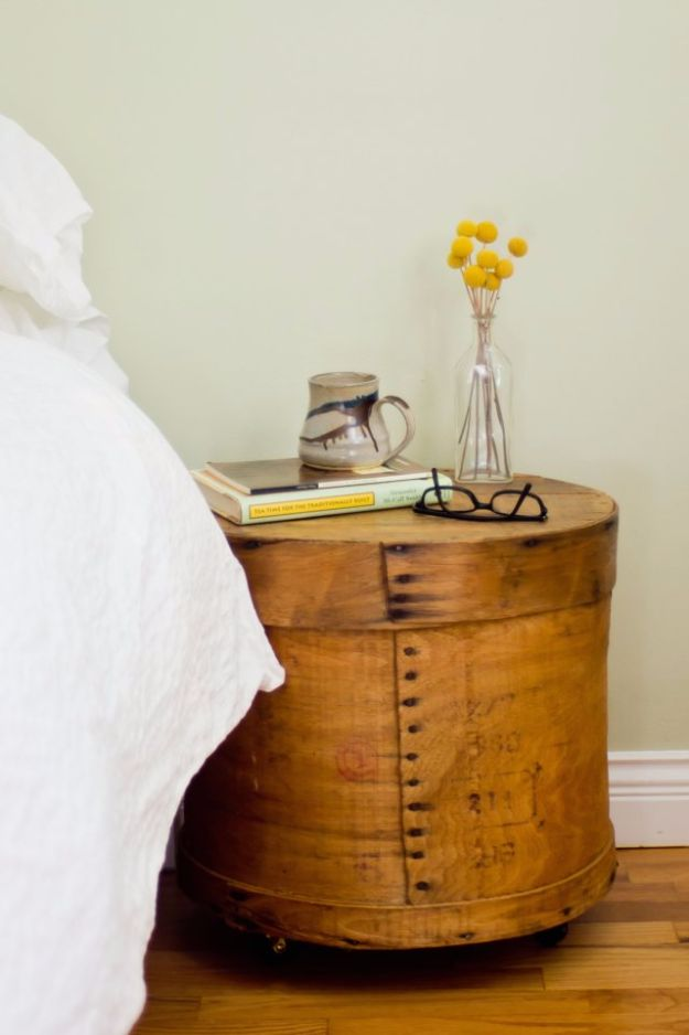 DIY Nightstands for the Bedroom - Cheesebox Nightstand - Easy Do It Yourself Bedside Tables and Furniture Project Ideas - Thrift Store Makeovers For Your Room and Bed Side Night Stand - Storage for Books and Remotes, Cute Shabby Chic and Vintage Decor - Step by Step Tutorials and Instructions http://diyjoy.com/diy-nightstands-bedroom