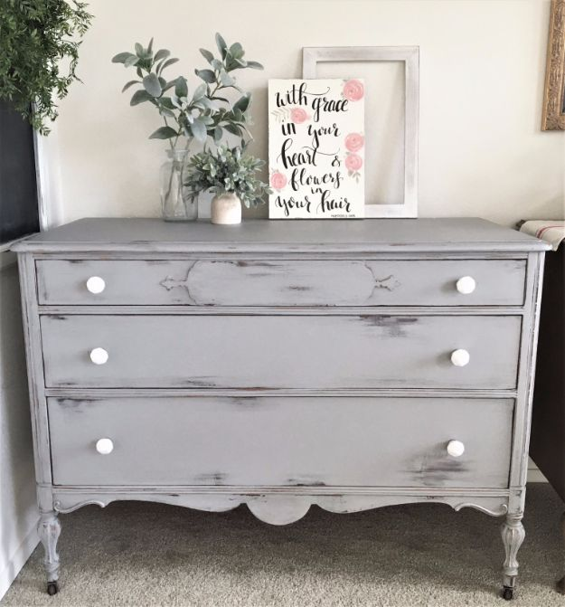 DIY Dressers - Chippy Dresser - Simple DIY Dresser Ideas - Easy Dresser Upgrades and Makeovers to Create Cool Bedroom Decor On A Budget- Do It Yourself Tutorials and Instructions for Decorating Cheap Furniture - Crafts for Women, Men and Teens http://diyjoy.com/diy-dresser-ideas