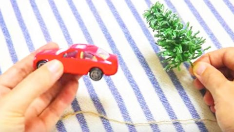 Watch The Clever Thing She Does With This Little Red Car And Christmas Tree! | DIY Joy Projects and Crafts Ideas