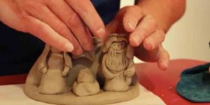 Watch How She Shapes This Air Dry Clay For A Magnificent Christmas Rendition!