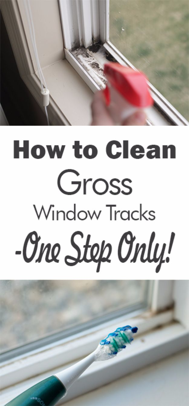 Best Spring Cleaning Ideas - Clean Gross Window Tracks In One Step - Easy Cleaning Tips For Home - DIY Cleaning Hacks and Product Recipes - Tips and Tricks for Cleaning the Bathroom, Kitchen, Floors and Countertops - Cheap Solutions for A Clean House #springcleaning