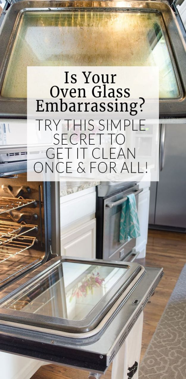Best Spring Cleaning Ideas - Clean Oven Glass - Easy Cleaning Tips For Home - DIY Cleaning Hacks and Product Recipes - Tips and Tricks for Cleaning the Bathroom, Kitchen, Floors and Countertops - Cheap Solutions for A Clean House #springcleaning