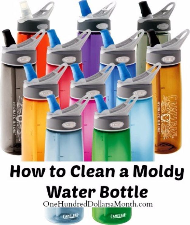 Best Spring Cleaning Ideas - Clean a Moldy Water Bottle - Easy Cleaning Tips For Home - DIY Cleaning Hacks and Product Recipes - Tips and Tricks for Cleaning the Bathroom, Kitchen, Floors and Countertops - Cheap Solutions for A Clean House #springcleaning
