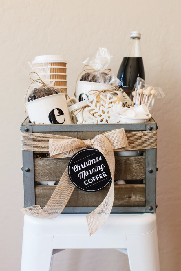 DIY Ideas for The Coffee Lover - Coffee Gift Basket - Easy and Cool Gift Ideas for People Who Love Coffee Drinks - Coaster, Cups and Mugs, Tumblers, Canisters and Do It Yourself Gift Ideas - Gift Jars and Baskets, Fun Presents to Make for Mom, Dad and Friends http://diyjoy.com/diy-ideas-coffee-lover