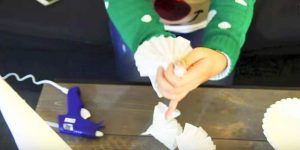 She Makes A Very Unique Christmas Decoration With Coffee Filters Of All Things. Watch!