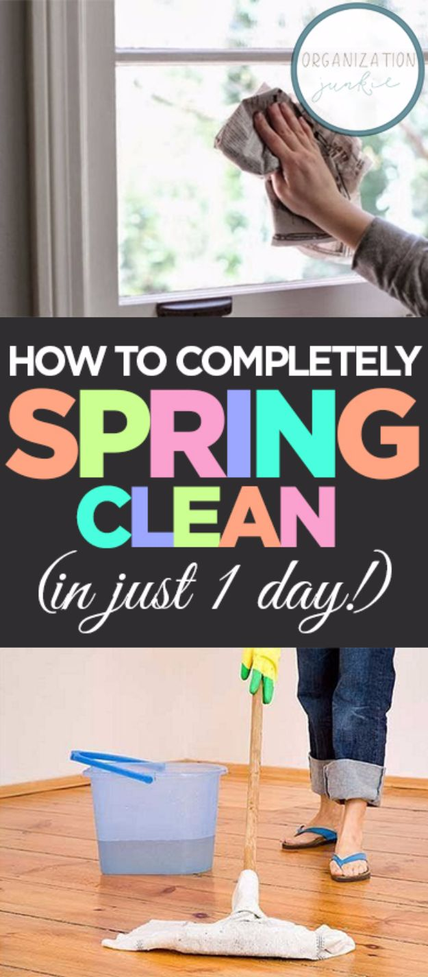 Best Spring Cleaning Ideas - Completely Spring Clean In One Day - Easy Cleaning Tips For Home - DIY Cleaning Hacks and Product Recipes - Tips and Tricks for Cleaning the Bathroom, Kitchen, Floors and Countertops - Cheap Solutions for A Clean House #springcleaning
