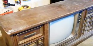 You'll Be Amazed When You See What She Turns This Ugly Old Console TV Into!