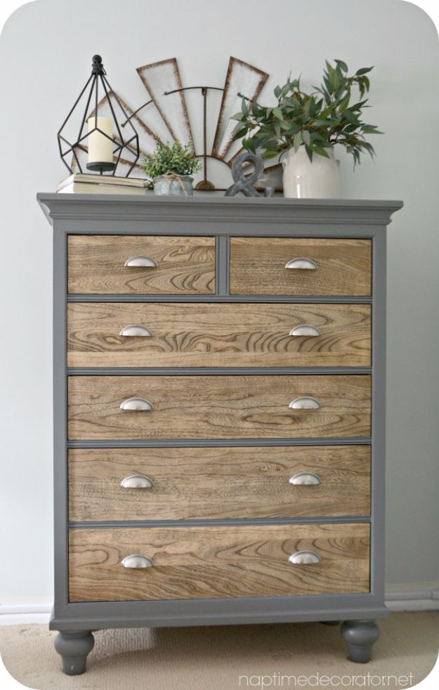 DIY Dressers - Contrast Color Dresser - Simple DIY Dresser Ideas - Easy Dresser Upgrades and Makeovers to Create Cool Bedroom Decor On A Budget- Do It Yourself Tutorials and Instructions for Decorating Cheap Furniture - Crafts for Women, Men and Teens http://diyjoy.com/diy-dresser-ideas