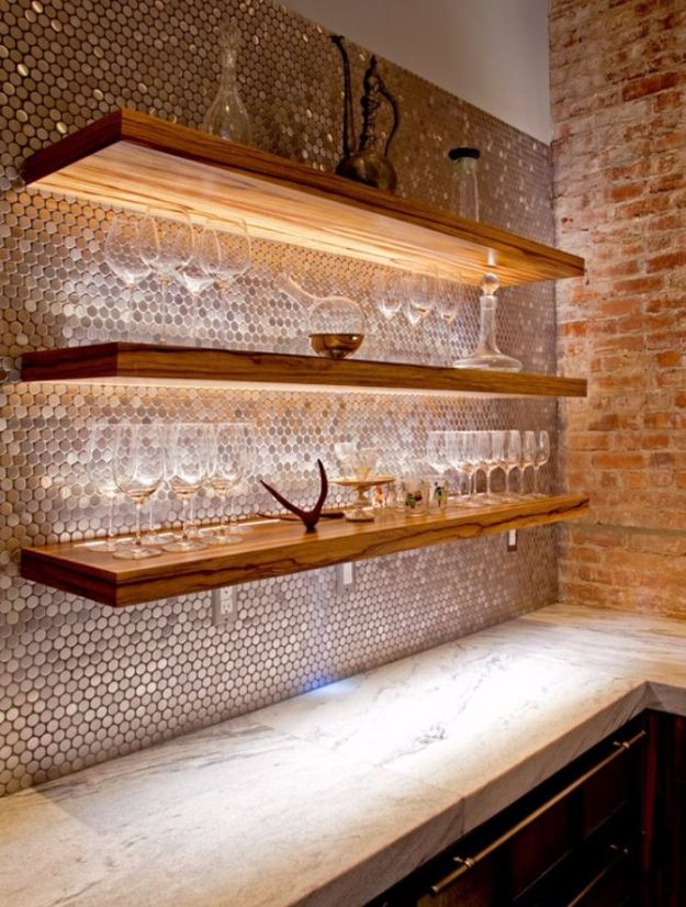 DIY Tile Ideas - Copper Tiles - Creative Crafts for Bathroom, Kitchen, Living Room, and Fireplace - Awesome Shower and Bathtub Ideas - Fun and Easy Home Decor Projects - How To Make Rustic Entryway Art #homeimprovement #diy
