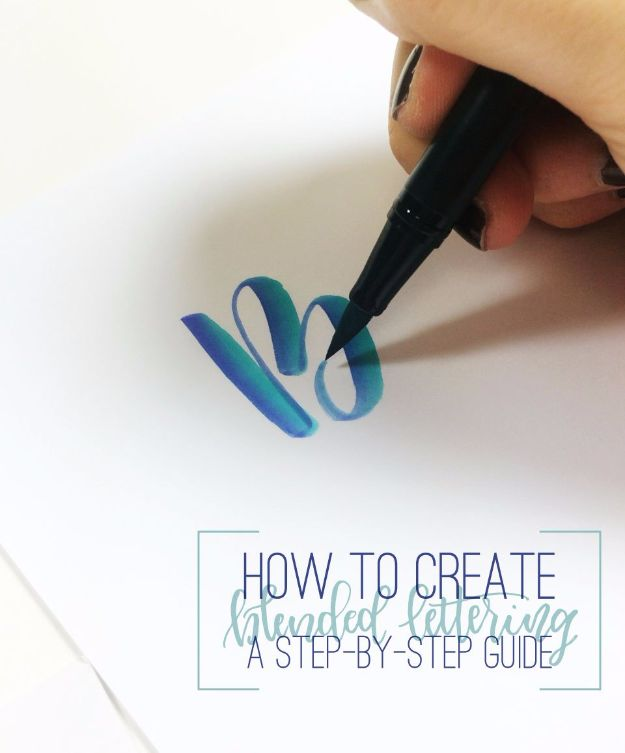 Brush Lettering Tutorials - Create Blended Lettering - Simple and Fun Calligraphy Tutorial Videos - How To Paint the Alphabet in Calligraphy Handwriting with Pens, Watercolors, Adobe Illustrator and Sharpie