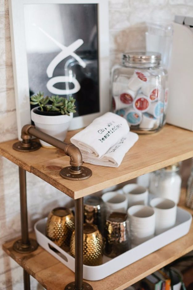 DIY Ideas for The Coffee Lover - DIY Coffee Carts and Stations - Easy and Cool Gift Ideas for People Who Love Coffee Drinks - Coaster, Cups and Mugs, Tumblers, Canisters and Do It Yourself Gift Ideas - Gift Jars and Baskets, Fun Presents to Make for Mom, Dad and Friends http://diyjoy.com/diy-ideas-coffee-lover