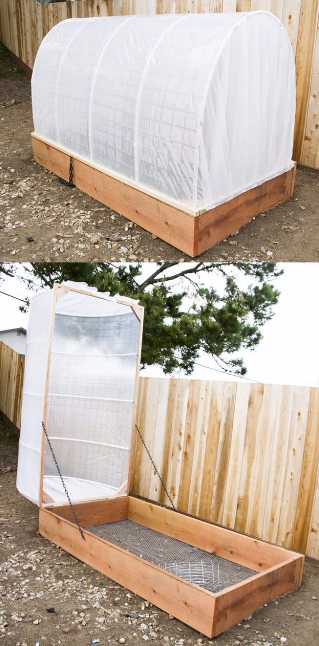 DIY Garden Beds - DIY Covered Greenhouse Garden - Easy Gardening Ideas for Raised Beds and Planter Boxes - Free Plans, Tutorials and Step by Step Tutorials for Building and Landscaping Projects - Update Your Backyard and Gardens With These Cheap Do It Yourself Ideas http://diyjoy.com/diy-garden-beds