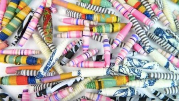 DIY Ideas With Beads - DIY Fabric Beads - Cool Crafts and Do It Yourself Ideas Made With Beads - Outdoor Windchimes, Indoor Wall Art, Cute and Easy DIY Gifts - Fun Projects for Kids, Adults and Teens - Bead Project Tutorials With Step by Step Instructions - Best Crafts To Make and Sell on Etsy