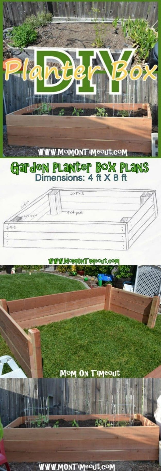 DIY Garden Beds - DIY Garden Planter Box - Easy Gardening Ideas for Raised Beds and Planter Boxes - Free Plans, Tutorials and Step by Step Tutorials for Building and Landscaping Projects - Update Your Backyard and Gardens With These Cheap Do It Yourself Ideas http://diyjoy.com/diy-garden-beds