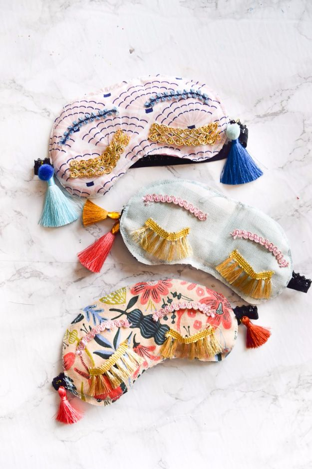 DIY Sleep Masks - DIY Holly Golithgly Sleep Masks - Cute and Easy Ideas for Making a Homemade Sleep Mask - Best DIY Gift Ideas for Her - Cool Crafts To Make and Sell On Etsy - Creative Presents for Girls, Women and Teens - Do It Yourself Sleeping With Words, Accents and Fun Accessories for Relaxing http://diyjoy.com/diy-sleep-masks