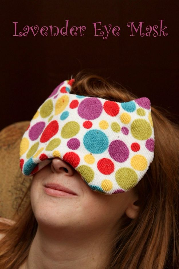 DIY Sleep Masks - DIY Lavender Eye Mask - Cute and Easy Ideas for Making a Homemade Sleep Mask - Best DIY Gift Ideas for Her - Cool Crafts To Make and Sell On Etsy - Creative Presents for Girls, Women and Teens - Do It Yourself Sleeping With Words, Accents and Fun Accessories for Relaxing   #diy #diygifts