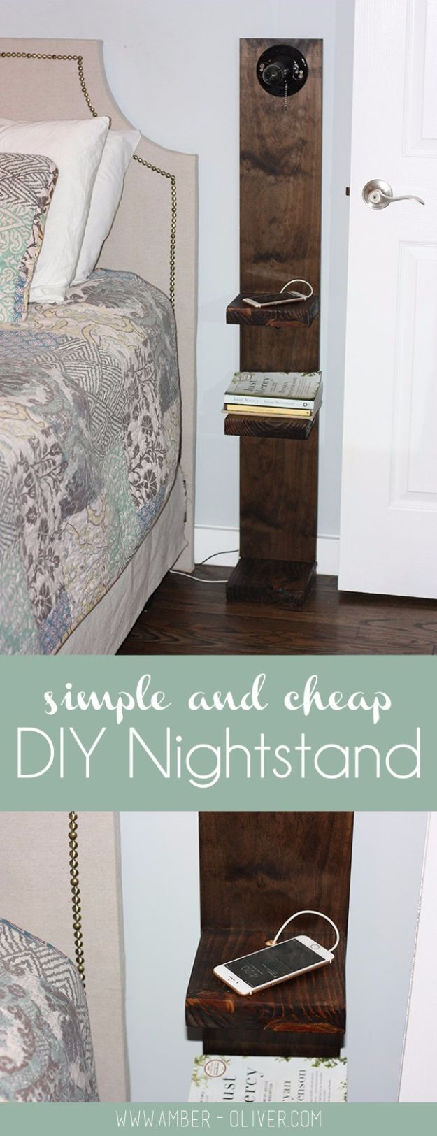 DIY Nightstands for the Bedroom - DIY Nightstand With Lighting - Easy Do It Yourself Bedside Tables and Furniture Project Ideas - Thrift Store Makeovers For Your Room and Bed Side Night Stand - Storage for Books and Remotes, Cute Shabby Chic and Vintage Decor - Step by Step Tutorials and Instructions http://diyjoy.com/diy-nightstands-bedroom