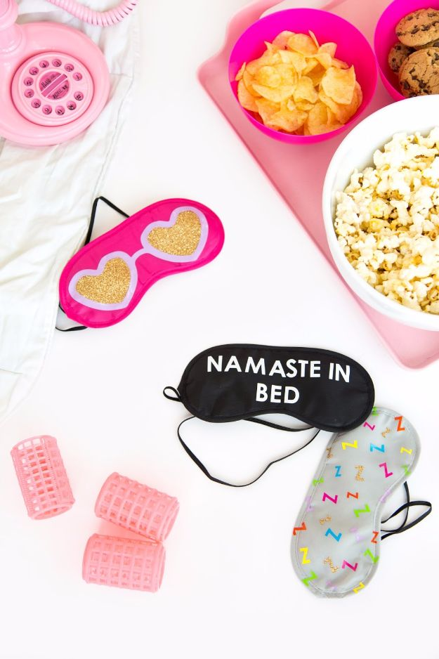 DIY Sleep Masks - DIY Sleeping Eye Masks - Cute and Easy Ideas for Making a Homemade Sleep Mask - Best DIY Gift Ideas for Her - Cool Crafts To Make and Sell On Etsy - Creative Presents for Girls, Women and Teens - Do It Yourself Sleeping With Words, Accents and Fun Accessories for Relaxing   #diy #diygifts