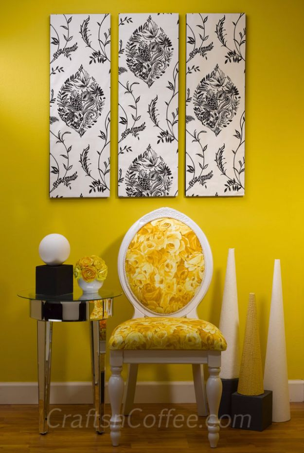 DIY Ideas for Wallpaper Scraps - DIY Wall Art - Cute Projects and Easy DIY Gift Ideas to Make With Leftover Wall Paper - Fun Home Decor, Homemade Wall Art Idea Tutorials, Creative Ways to Use Old Wallpapers - Cool Crafts for Men, Women and Teens http://diyjoy.com/diy-ideas-wallpaper-scraps