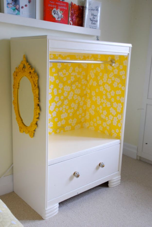 DIY Dressers - Dresser With Closet- Simple DIY Dresser Ideas - Easy Dresser Upgrades and Makeovers to Create Cool Bedroom Decor On A Budget- Do It Yourself Tutorials and Instructions for Decorating Cheap Furniture - Crafts for Women, Men and Teens http://diyjoy.com/diy-dresser-ideas