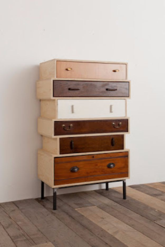 DIY Dressers - Dresser With Drawers - Simple DIY Dresser Ideas - Easy Dresser Upgrades and Makeovers to Create Cool Bedroom Decor On A Budget- Do It Yourself Tutorials and Instructions for Decorating Cheap Furniture - Crafts for Women, Men and Teens http://diyjoy.com/diy-dresser-ideas