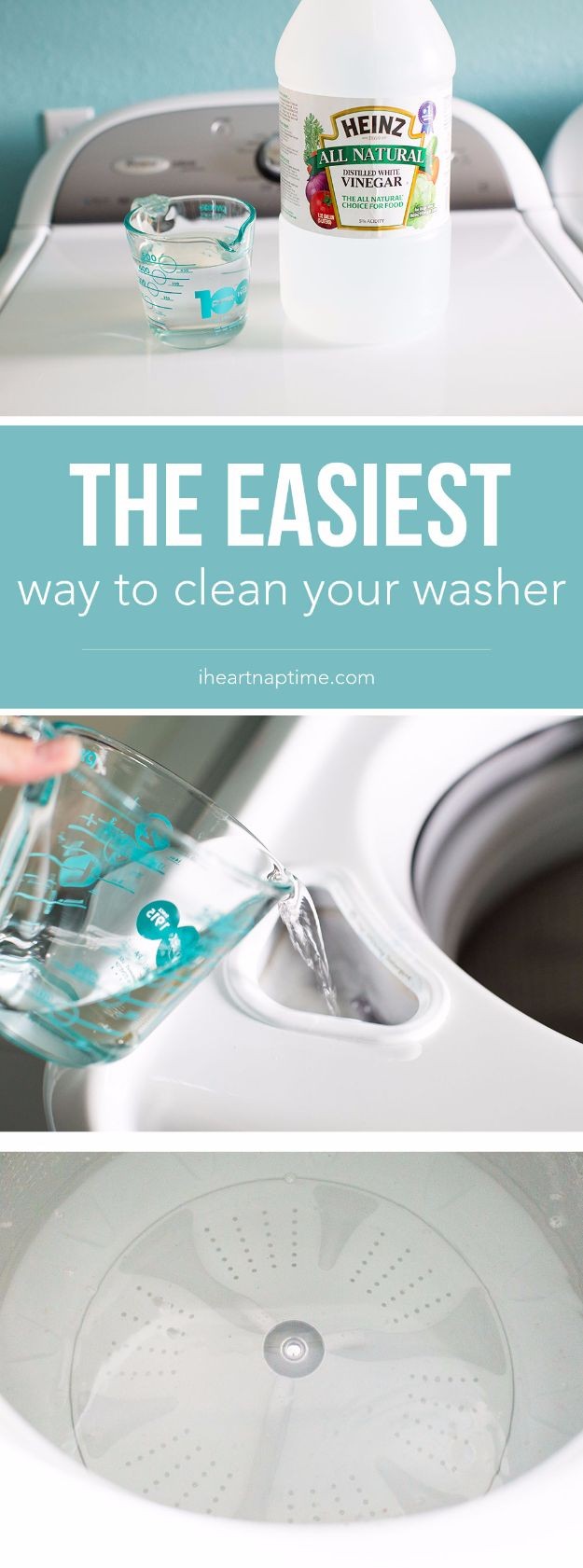 Best Spring Cleaning Ideas - Easiest Way to Clean Your Washer - Easy Cleaning Tips For Home - DIY Cleaning Hacks and Product Recipes - Tips and Tricks for Cleaning the Bathroom, Kitchen, Floors and Countertops - Cheap Solutions for A Clean House #springcleaning