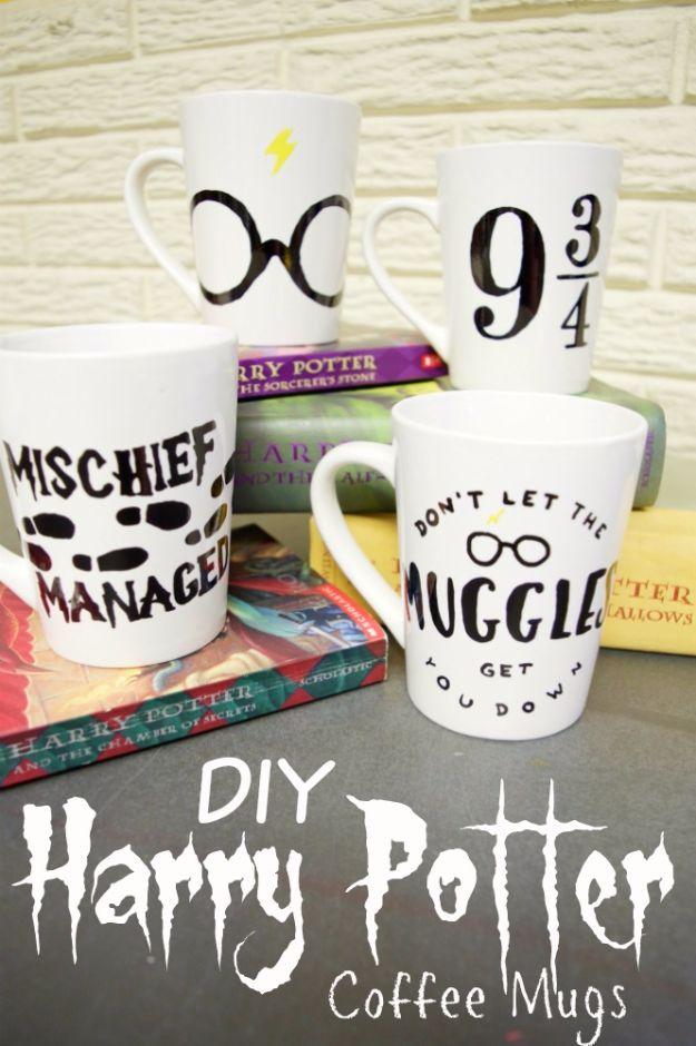 DIY Coffee Mugs   Easy DIY Harry Potter Coffee Mugs   Easy Coffee Mug Ideas  For