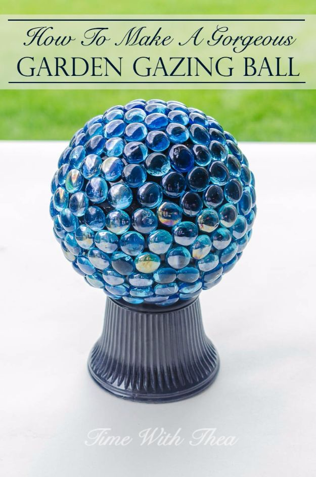 DIY Ideas With Beads - Gorgeous Garden Gazing Ball - Cool Crafts and Do It Yourself Ideas Made With Beads - Outdoor Windchimes, Indoor Wall Art, Cute and Easy DIY Gifts - Fun Projects for Kids, Adults and Teens - Bead Project Tutorials With Step by Step Instructions - Best Crafts To Make and Sell on Etsy