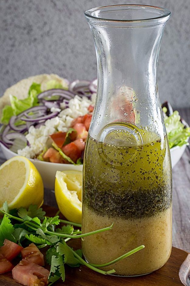 Salad Dressing Recipes - Greek Salad Dressing - Healthy, Low Calorie and Easy Recipes for Creamy Homeade Dressings - How To Make Vinaigrette, Mango, Greek, Paleo, Balsamic, Ranch, and Italian Copycat Dressings