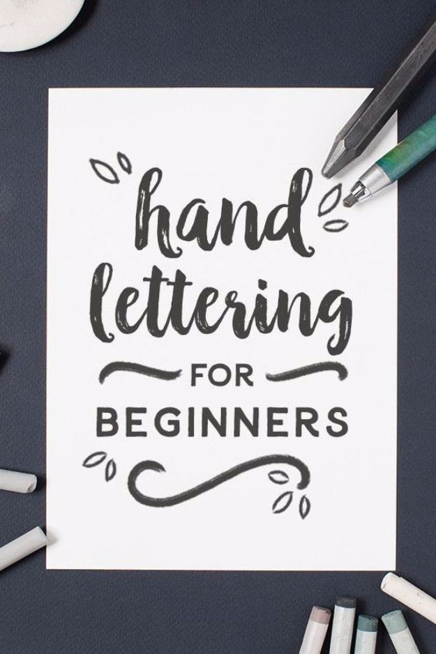 Brush Lettering Tutorials - Hand Lettering for Beginners - Simple and Fun Calligraphy Tutorial Videos - How To Paint the Alphabet in Calligraphy Handwriting with Pens, Watercolors, Adobe Illustrator and Sharpie