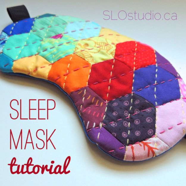 DIY Sleep Masks - Handmade Sleep Mask - Cute and Easy Ideas for Making a Homemade Sleep Mask - Best DIY Gift Ideas for Her - Cool Crafts To Make and Sell On Etsy - Creative Presents for Girls, Women and Teens - Do It Yourself Sleeping With Words, Accents and Fun Accessories for Relaxing   #diy #diygifts