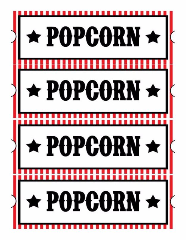Best Free Printables for Crafts - Home Movie Theatre Night Free Printables - Quotes, Templates, Paper Projects and Cards, DIY Gifts Cards, Stickers and Wall Art You Can Print At Home - Use These Fun Do It Yourself Template and Craft Ideas for Your Next Craft Projects - Cute Arts and Crafts Ideas for Kids and Adults to Make on Printer / Printable http://diyjoy.com/best-free-printables-crafts