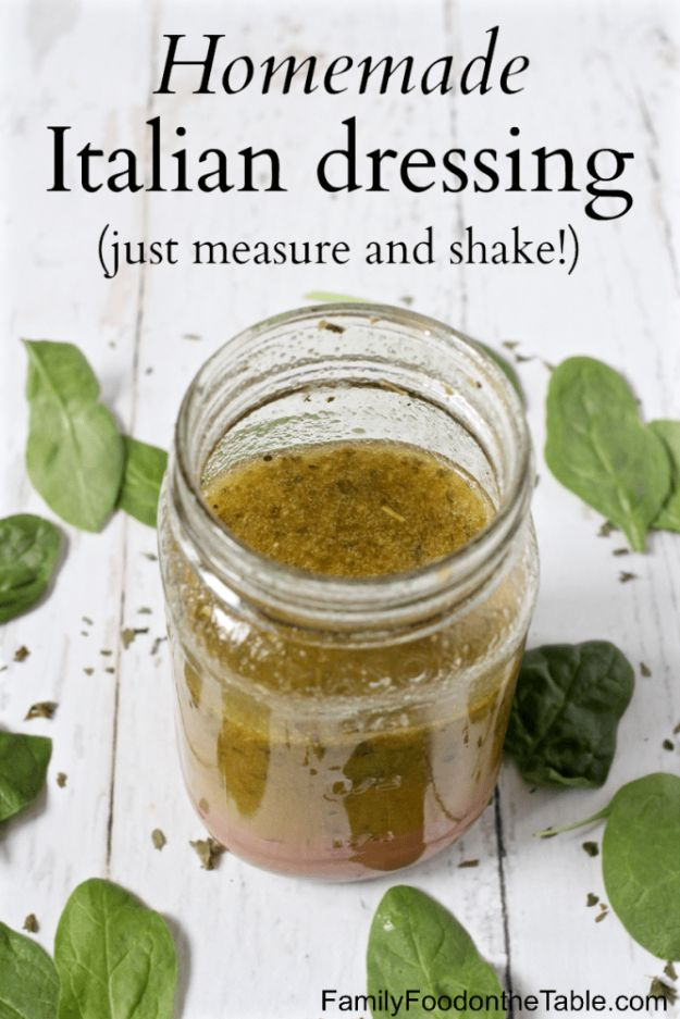 Salad Dressing Recipes - Homemade Italian Dressing - Healthy, Low Calorie and Easy Recipes for Creamy Homeade Dressings - How To Make Vinaigrette, Mango, Greek, Paleo, Balsamic, Ranch, and Italian Copycat Dressings