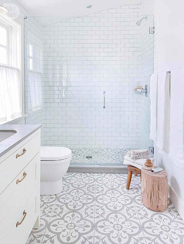 DIY Tile Ideas - Icelandic Spa Floor And Shower Scheme - Creative Crafts for Bathroom, Kitchen, Living Room, and Fireplace - Awesome Shower and Bathtub Ideas - Fun and Easy Home Decor Projects - How To Make Rustic Entryway Art http://diyjoy.com/diy-tile-ideas