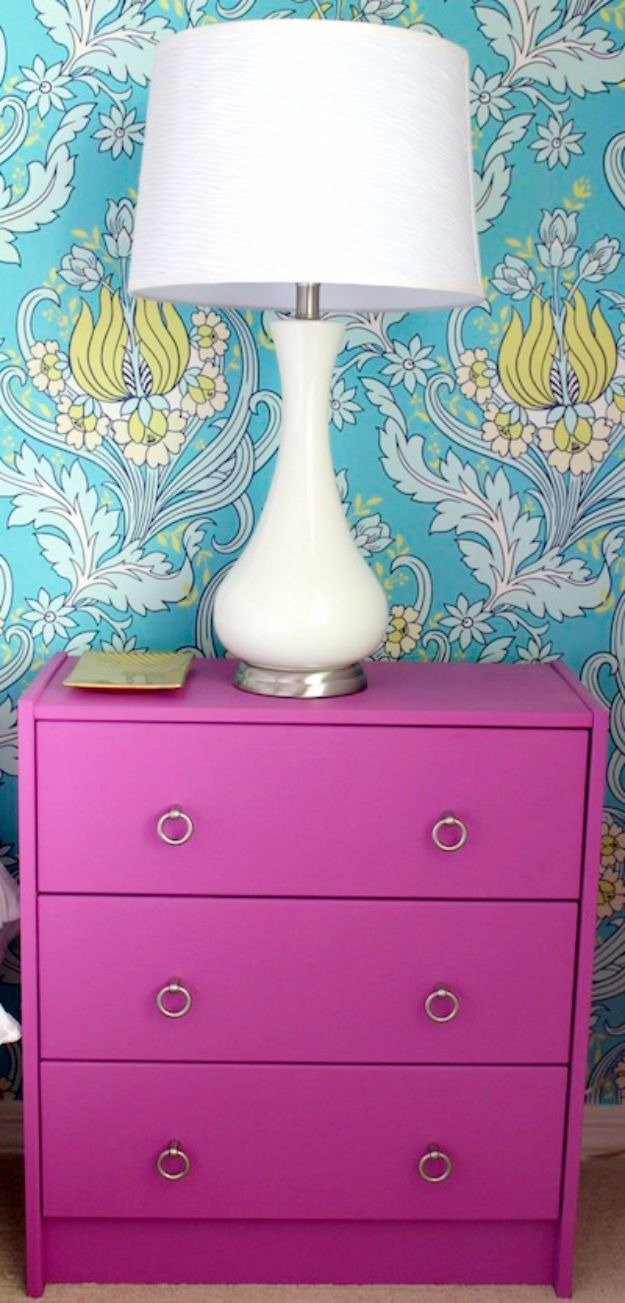 DIY Nightstands for the Bedroom - Ikea Rast Nightstand DIY - Easy Do It Yourself Bedside Tables and Furniture Project Ideas - Thrift Store Makeovers For Your Room and Bed Side Night Stand - Storage for Books and Remotes, Cute Shabby Chic and Vintage Decor - Step by Step Tutorials and Instructions http://diyjoy.com/diy-nightstands-bedroom
