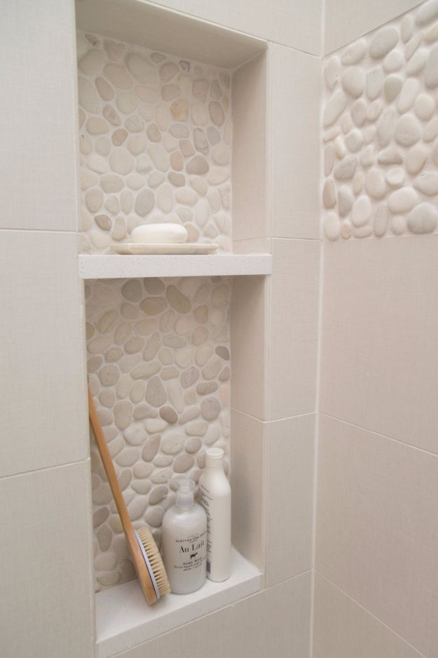 DIY Tile Ideas - In-Laid Stone Tile Design - Creative Crafts for Bathroom, Kitchen, Living Room, and Fireplace - Awesome Shower and Bathtub Ideas - Fun and Easy Home Decor Projects - How To Make Rustic Entryway Art http://diyjoy.com/diy-tile-ideas