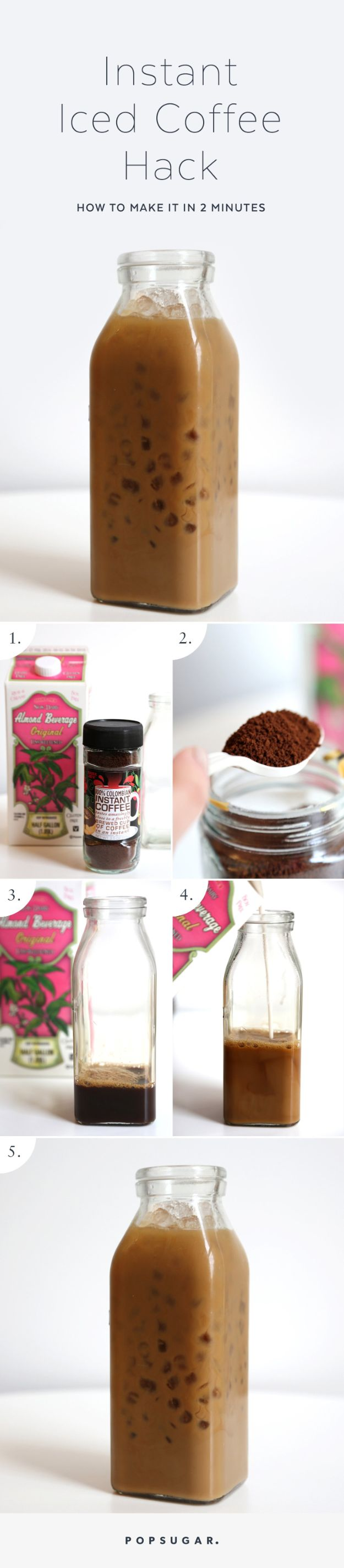 DIY Ideas for The Coffee Lover - Instant Iced Coffee Hack - Easy and Cool Gift Ideas for People Who Love Coffee Drinks - Coaster, Cups and Mugs, Tumblers, Canisters and Do It Yourself Gift Ideas - Gift Jars and Baskets, Fun Presents to Make for Mom, Dad and Friends http://diyjoy.com/diy-ideas-coffee-lover