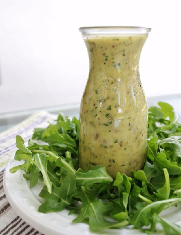 Salad Dressing Recipes - Lemon Caper Salad Dressing - Healthy, Low Calorie and Easy Recipes for Creamy Homeade Dressings - How To Make Vinaigrette, Mango, Greek, Paleo, Balsamic, Ranch, and Italian Copycat Dressings