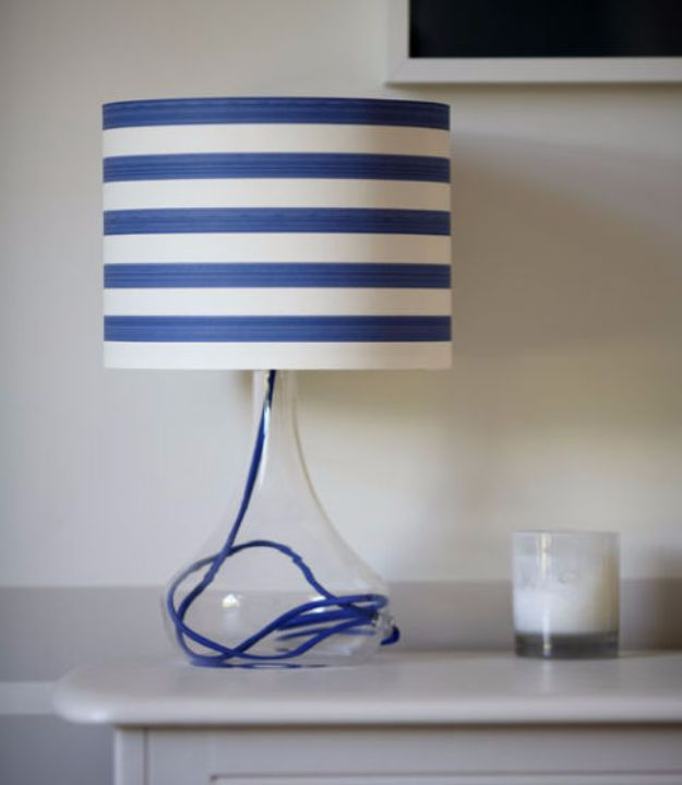 DIY Ideas for Wallpaper Scraps - Lighten Up Your Lampshade - Cute Projects and Easy DIY Gift Ideas to Make With Leftover Wall Paper - Fun Home Decor, Homemade Wall Art Idea Tutorials, Creative Ways to Use Old Wallpapers - Cool Crafts for Men, Women and Teens http://diyjoy.com/diy-ideas-wallpaper-scraps